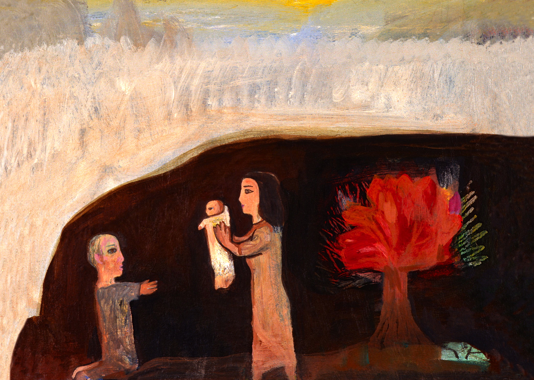 Nativity-with-Burning-Bush-1991-Albert-Herbert-1925-2008